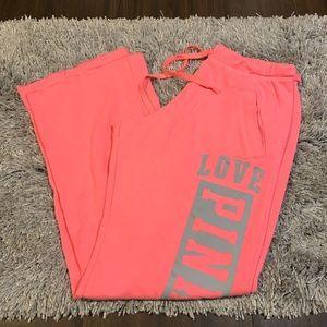 Pink Victoria's Secret Boyfriend Sweatpants